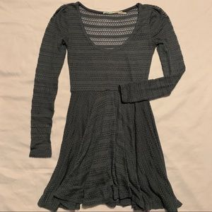 UO Kimchi Blue Long Sleeve Blue Knit A like Dress